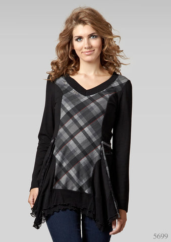 Black Checkered Tunic