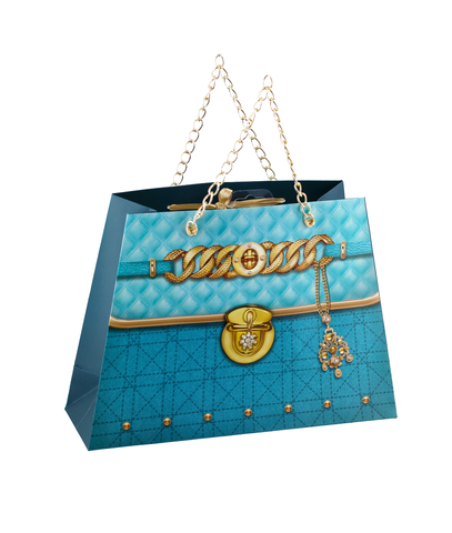 Royal Gold Blue Luxury Gift Bag