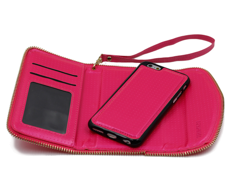 Pink Victoria Wallet Phone Case