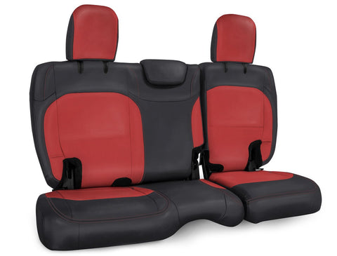 Rear Bench Cover for Jeep Wrangler JLU, 4 door with cloth interior - Black and red
