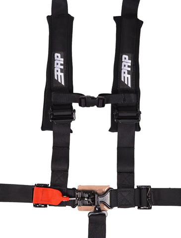 5.2 Harness with Shoulder Straps Sewn to Lap, Black