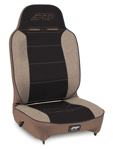 Enduro High Back Reclining Suspension Seat, Driver Side; Tan and Black - 201, 220, 50, 64; PRP Tan Out