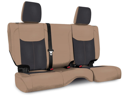 Rear Seat Cover for '13–'18 Jeep Wrangler JK, 2 door - Black and tan