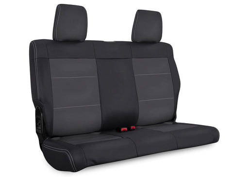 Rear Seat Cover for '07 Jeep Wrangler JKU, 4 door - Black and grey