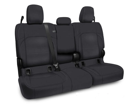 Rear Bench Cover for Jeep Gladiator JT, with leather interior - All Black