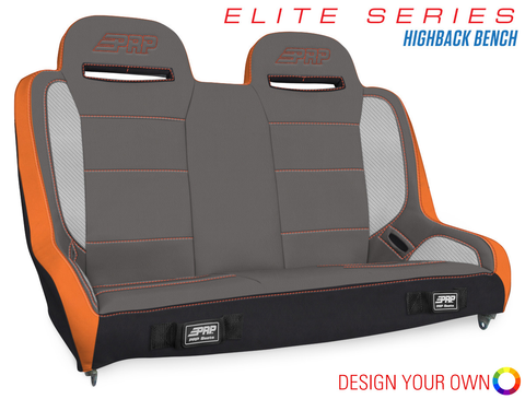 "Elite Series High Back Rear Suspension Bench Seat (40-53"")"