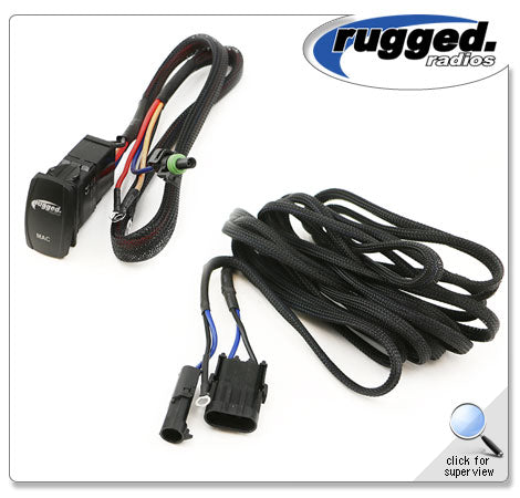 RUGGED RADIOS M3 Pumper Install Harness with Rocker Switch PH-MAC3