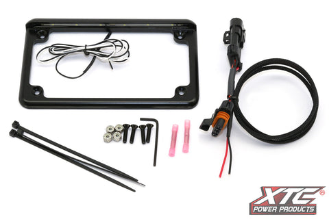"XTC 6"" LED LICENSE PLATE FRAME WITH PLUG & PLAY POWER OUT - 2015 RZR"