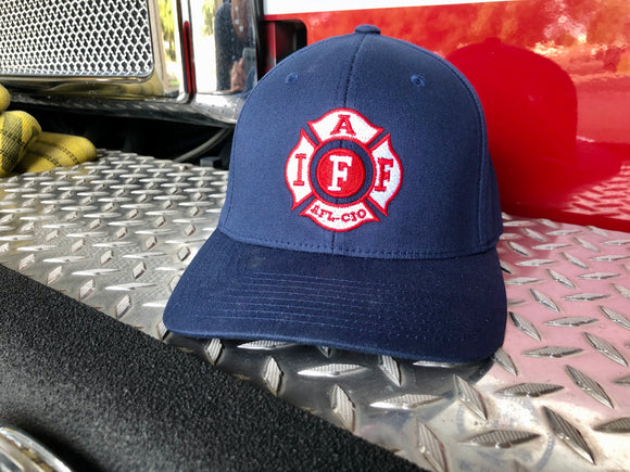 Flex Fit Hat - Traditional IAFF Navy Blue
