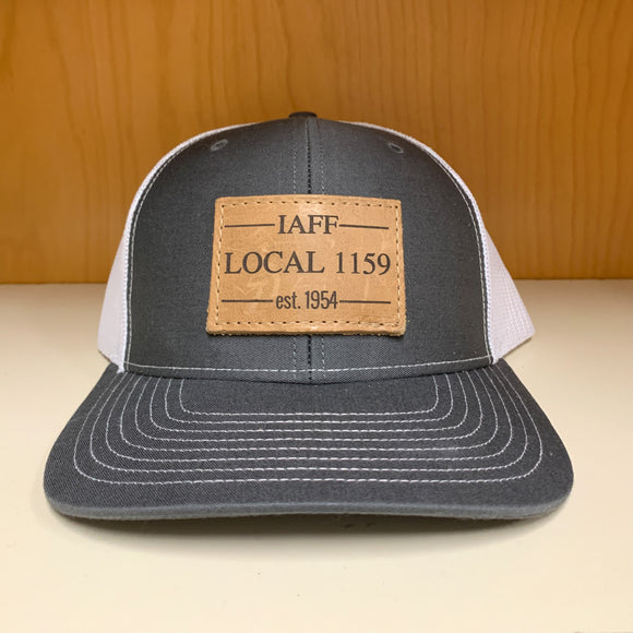 Leather Patch Snap Back (Grey/White)