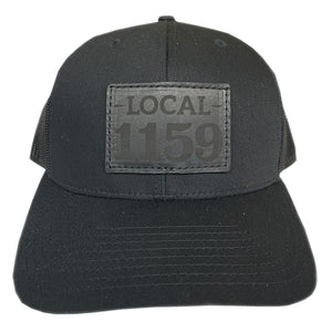 Leather Patch Snap Back (Black)