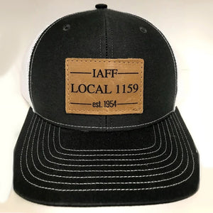 Leather Patch Snap Back (Black/White)