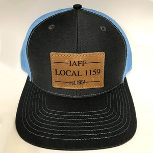 Leather Patch Snap Back (Black/Blue)