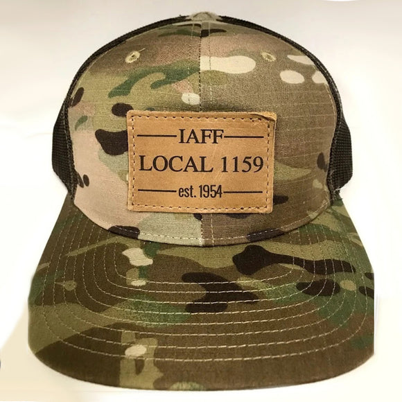Leather Patch Snap Back (Camo)