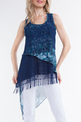 Blue Tunic with Fringe