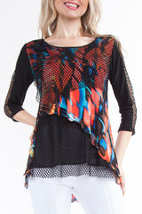 Colorful Mesh Tunic