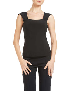 Women's Black Square Neck Camisole - Made In Canada - Shop Local - Yvonne Marie