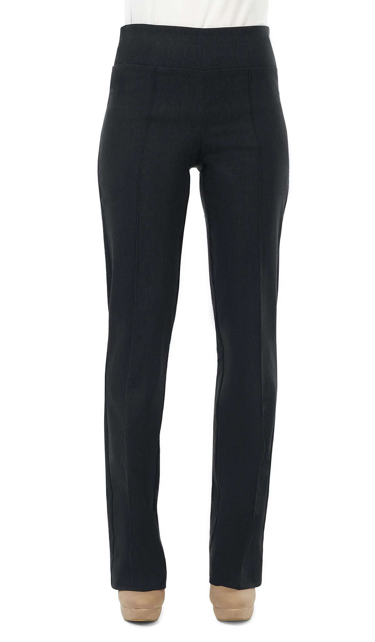 Women's Charcoal Miracle Fit Stretch Pant - Yvonne Marie