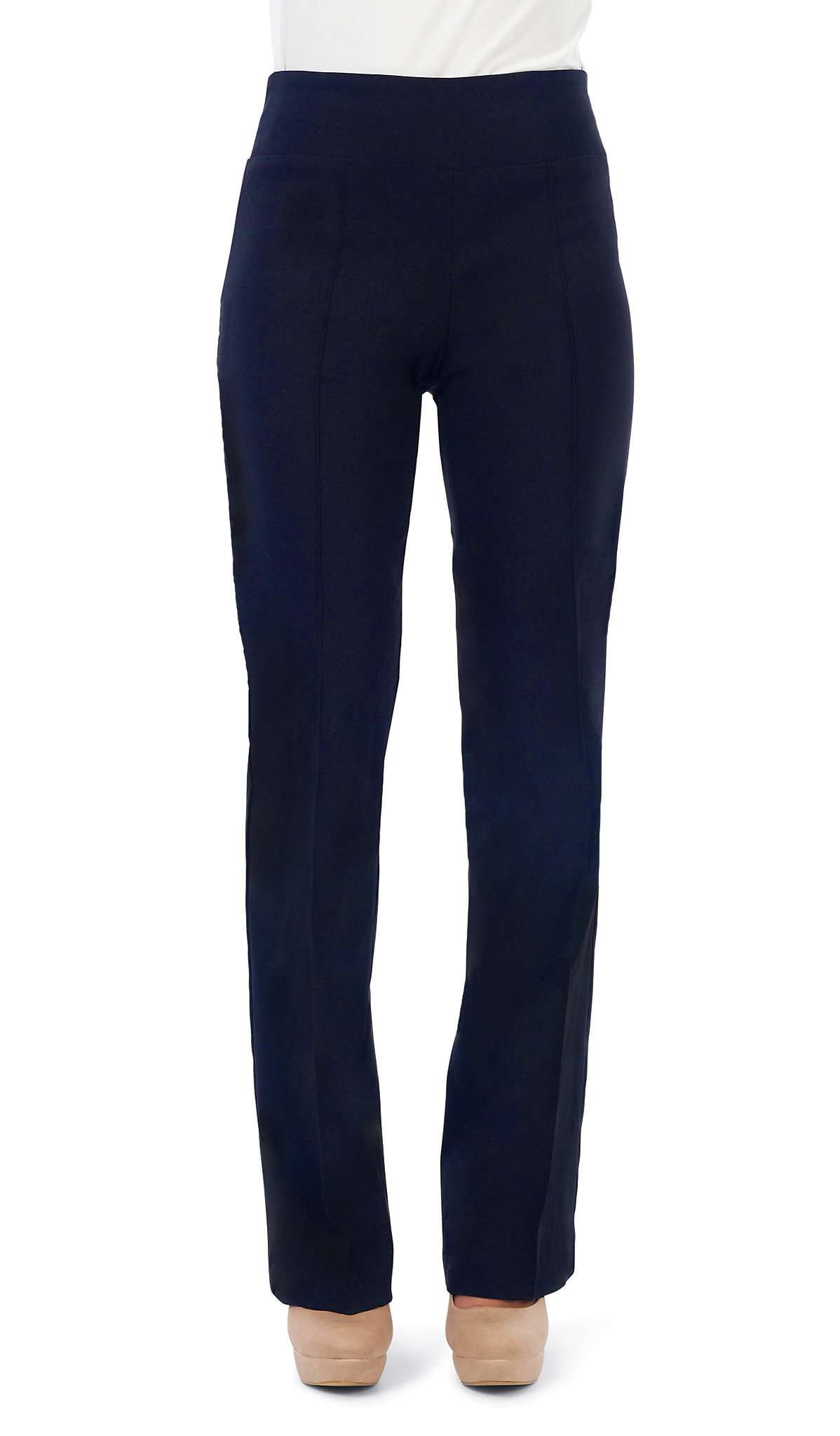 "Women's Navy Pant ""Miracle Fit"" Stretch Pant -Made In Canada - Yvonne Marie - Yvonne Marie"