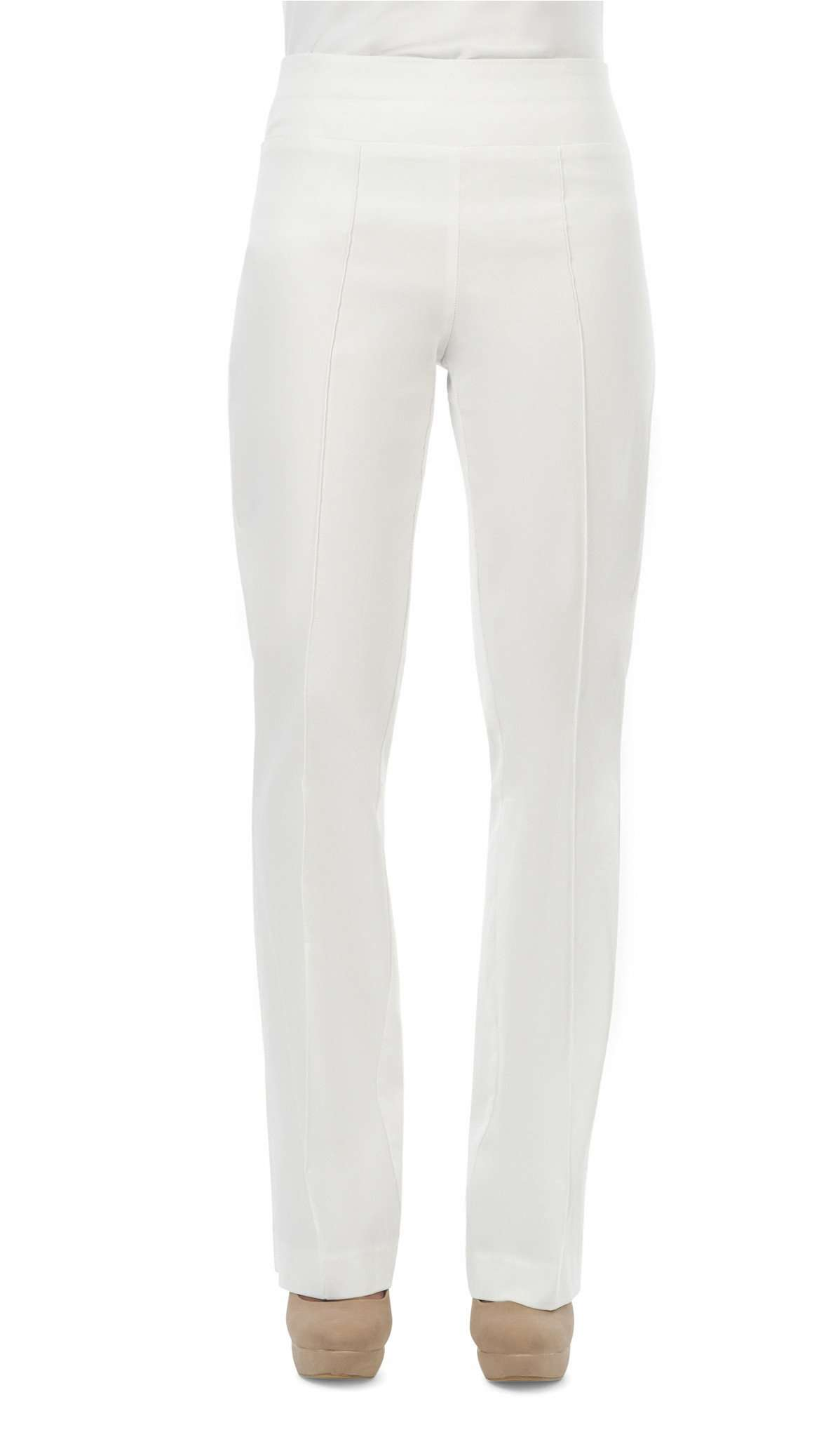 Women's White Miracle Fit Stretch Pants - Yvonne Marie - Yvonne Marie