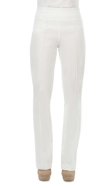 Women's White Miracle Fit Stretch Pants