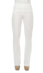 "Women's Pants White ""Miracle Fit: Stretch Pant - Made In Canada - Yvonne Marie - Yvonne Marie"