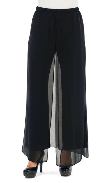 Pant Black Palazzo Flowing Chiffon Special Occasion