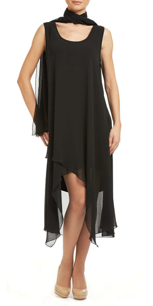 Black Dress Elegant Chiffon Fabric For Special Occasions