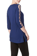 Royal Blue Open Sleeve Tunic - Yvonne Marie