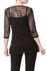 Lace Tunic Top In Quality Stretch Lace Made in Canada - Yvonne Marie