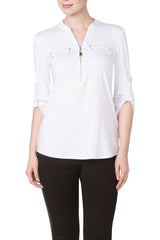 Womens White Blouse on Sale - Made in Canada' - Yvonne Marie - Yvonne Marie