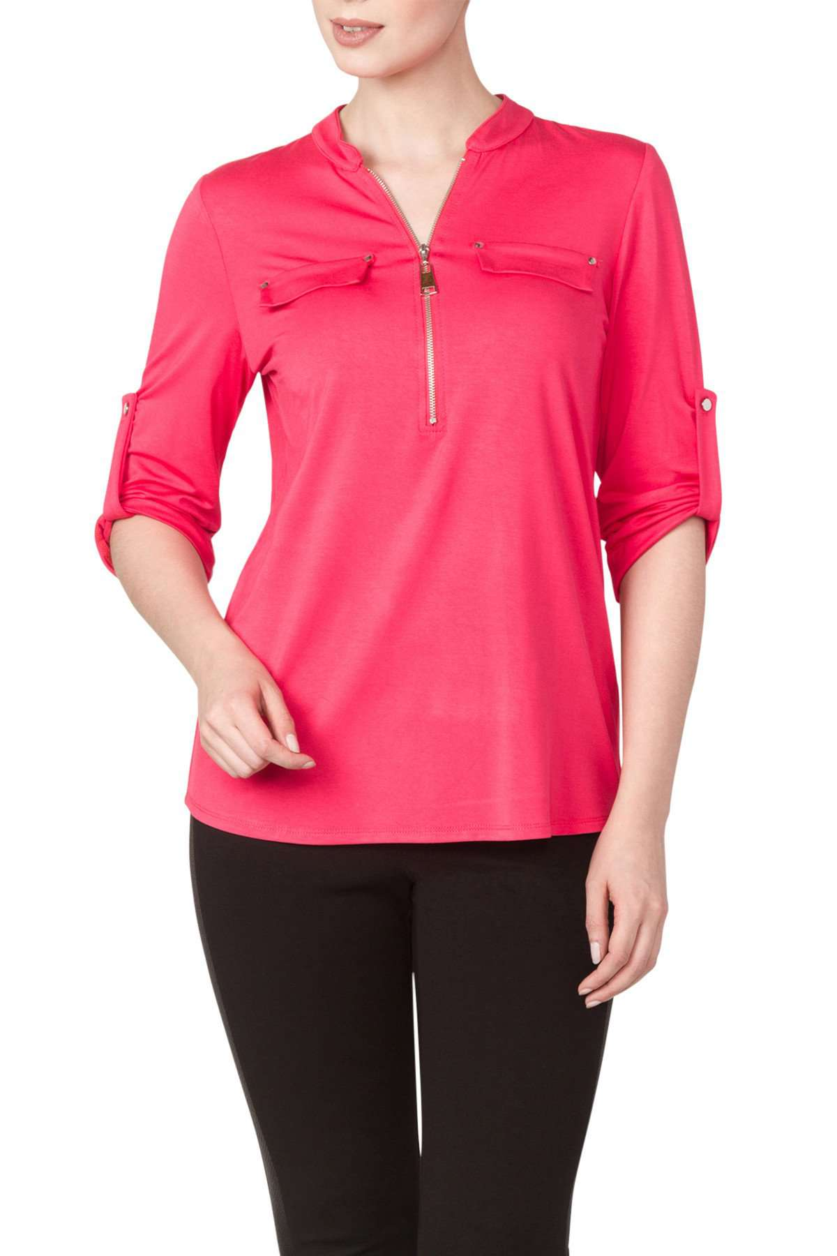 Womens Pink Blouse - Yvonne Marie