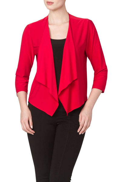Red Bolero Jacket in Soft Knit Fabric-Made in Canada