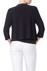 Women's Navy Bolero Jacket-Made In Canada-Shop Local - Yvonne Marie - Yvonne Marie
