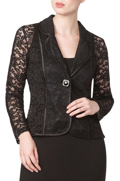Jacket Black Stretch lace Elegant Great Fit Made in Canada