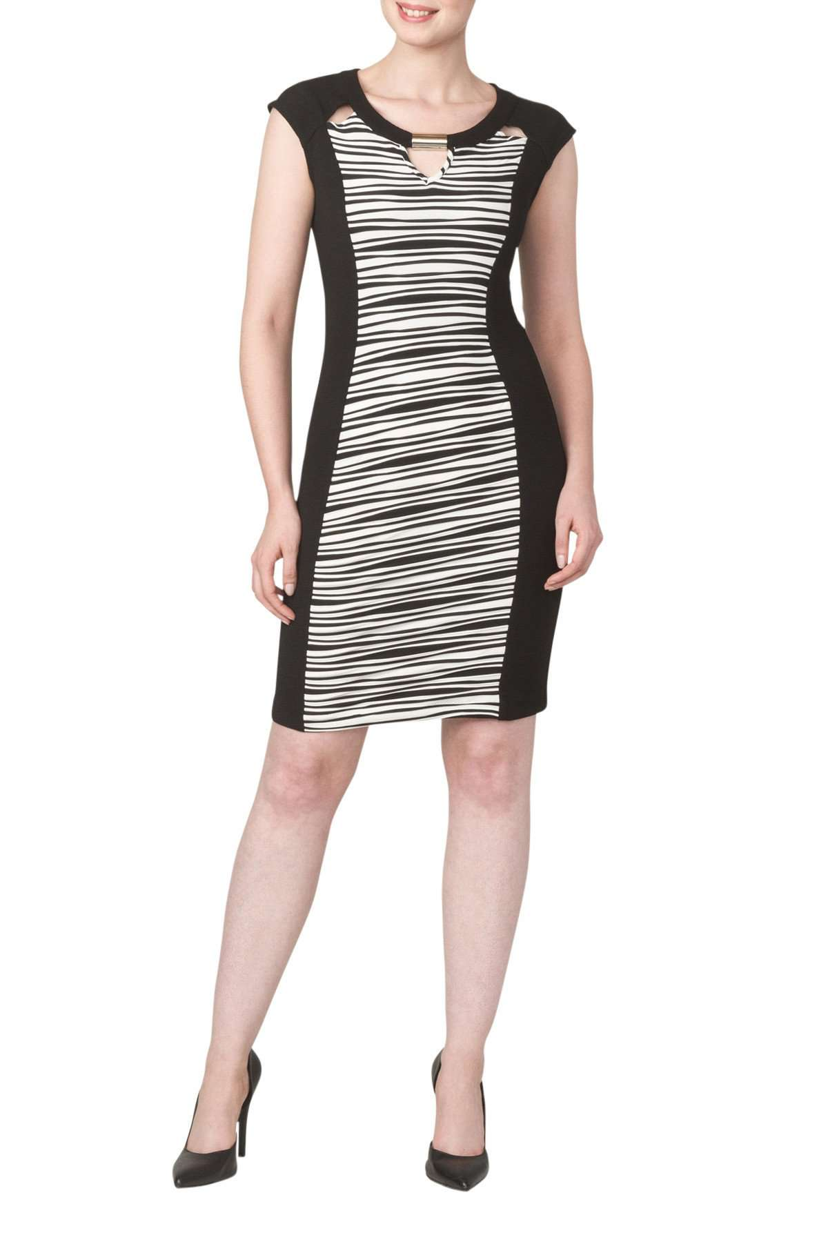 Women's Black and White Dress - Yvonne Marie - Yvonne Marie