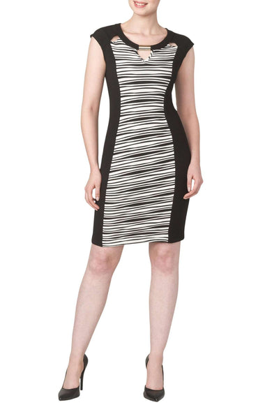Women's Black and White Dress