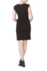 Dress Black and White Textured Quality Knit Fabric -Made in Canada - Yvonne Marie