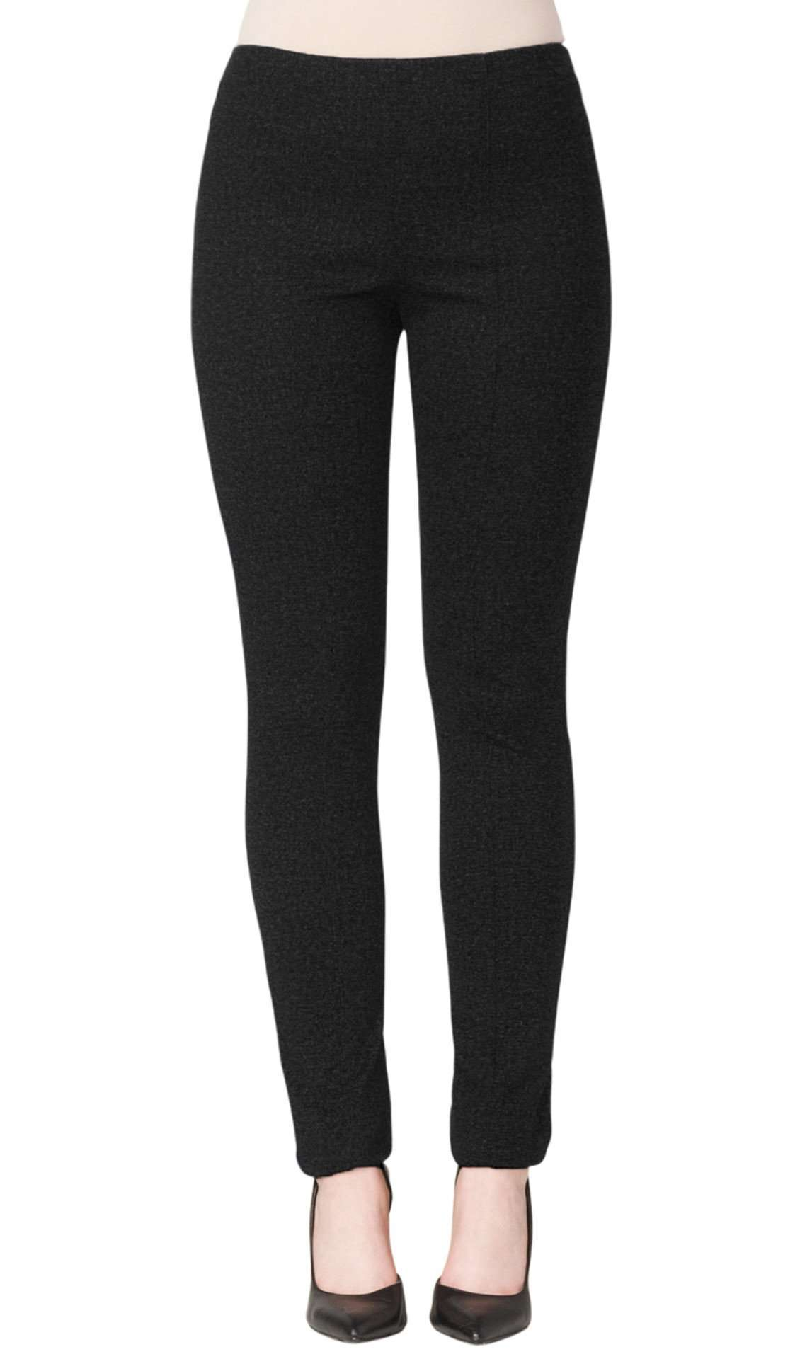 Women's Black Slim Leg Pants - Yvonne Marie