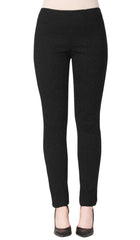 Pants Black Slim Leg Cut- Great Comfort And Style Made in Canada - Yvonne Marie