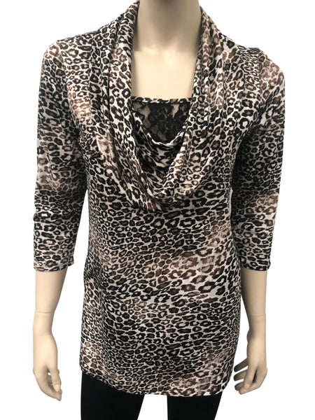 Women's Tops Montreal Now on Sale Animal Print Top- Made in Canada