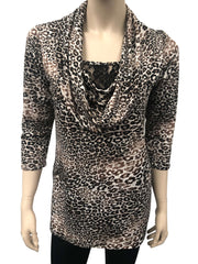 Women's Tops Montreal Now on Sale Animal Print Top- Made in Canada - Yvonne Marie - Yvonne Marie