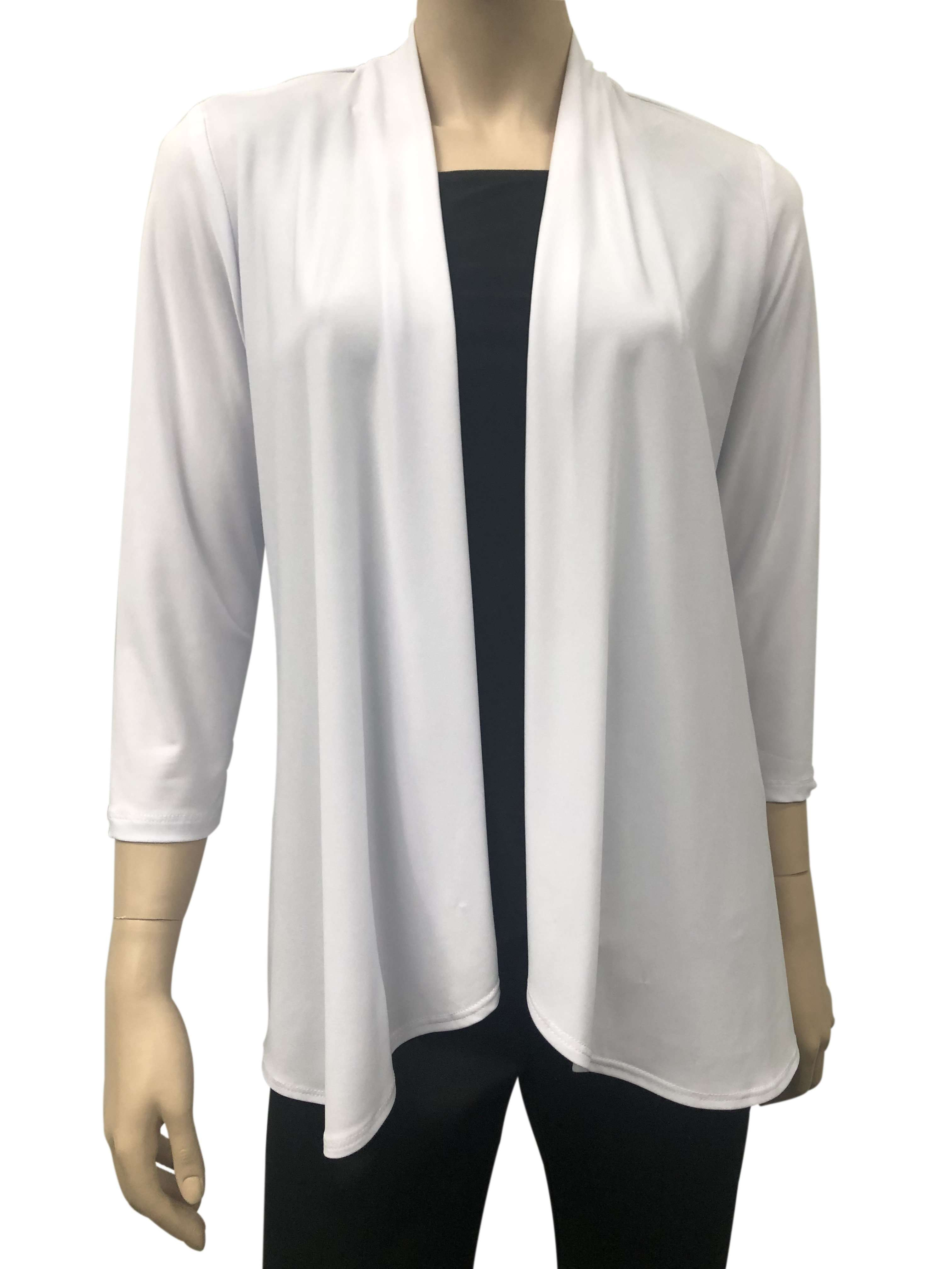 Women's  White Cardigan -Made In Canada- Now 50 Off -Shop Local - Yvonne Marie - Yvonne Marie