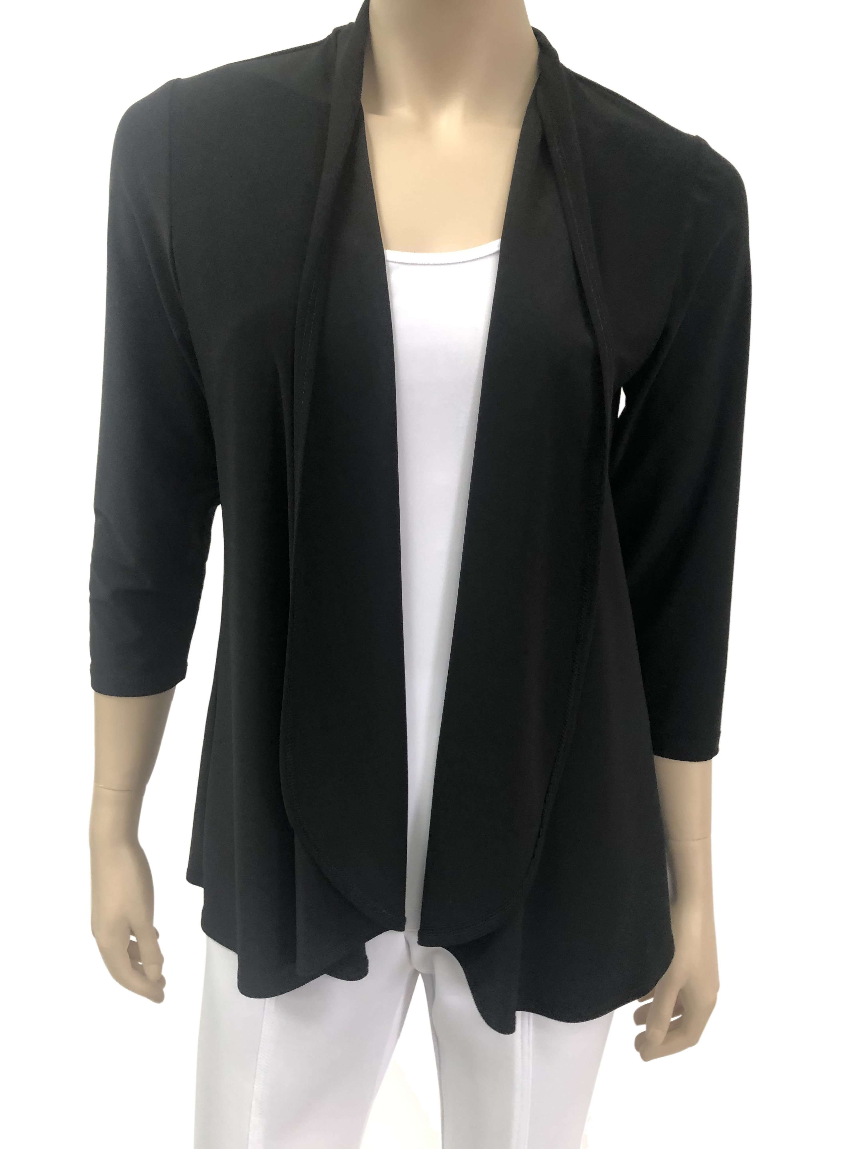 Women's Black Cardigan - Made In Canada - Now 50 Off - Shop Local - Yvonne Marie - Yvonne Marie