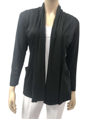 Women's Black Cardigan With Pockets -Now 50 Off-Made In Canada-Shop Local - Yvonne Marie - Yvonne Marie