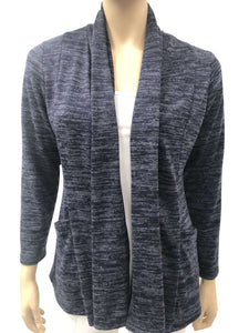 Women's Navy Cardigan-Made In Canada-Top Quality Cozy Knit Fabric-On Sale Now - Yvonne Marie - Yvonne Marie