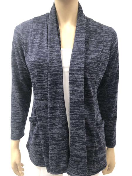 Women's Navy Cardigan-Made In Canada-Top Quality Cozy Knit Fabric-On Sale Now