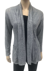 Women's Cardigan Denim Blue Soft Knit Fabric-Made in Canada-Shop Local - Yvonne Marie - Yvonne Marie