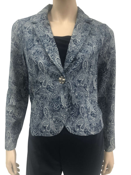 Womens Jackets Canada | Denim Jacket Paisley Print | On Sale | YM Style
