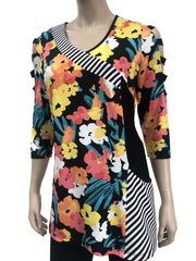 Women's Colorful Tunic Top - Yvonne Marie - Yvonne Marie